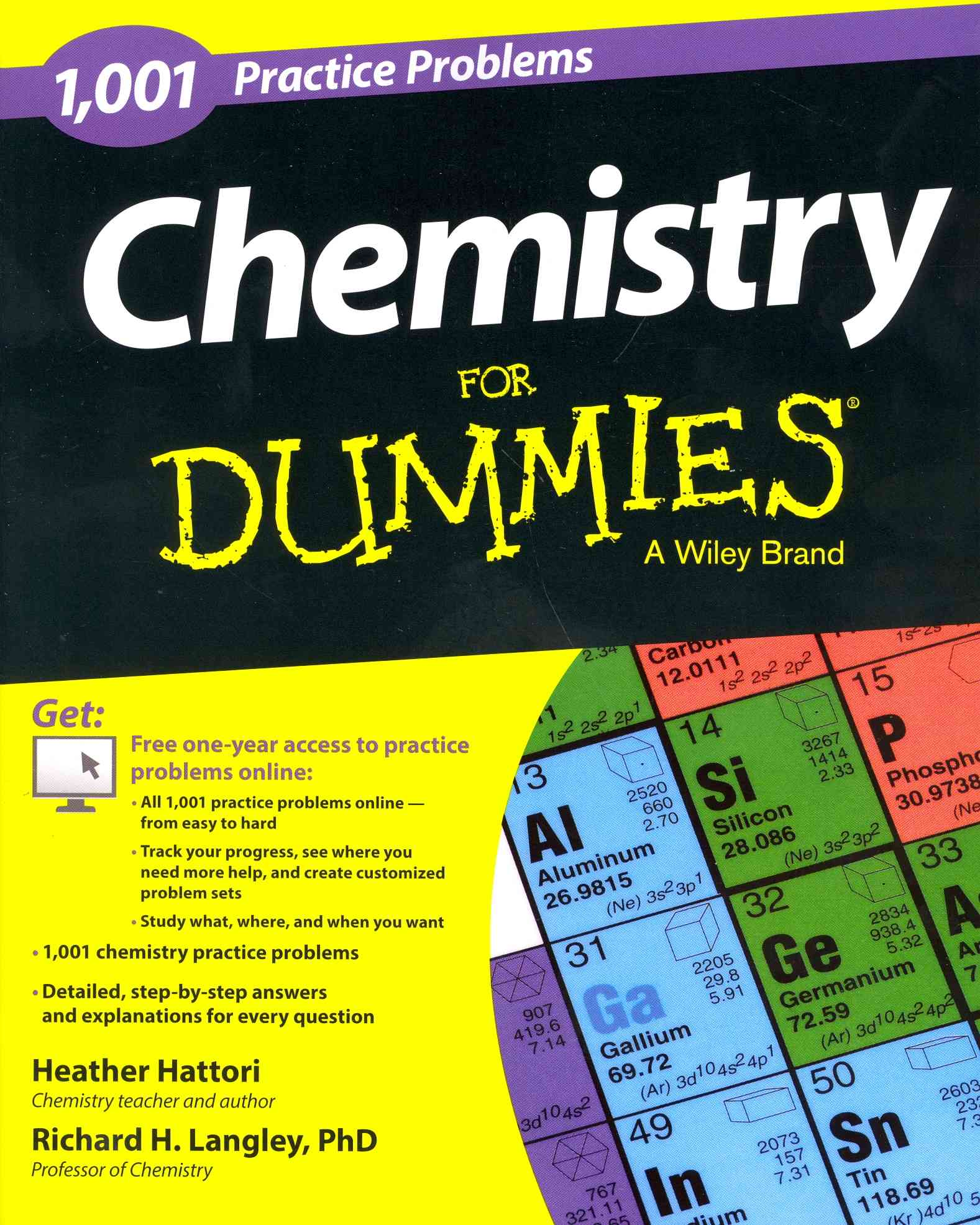 1001 Chemistry Practice Problems for Dummies By Hattori, Heather